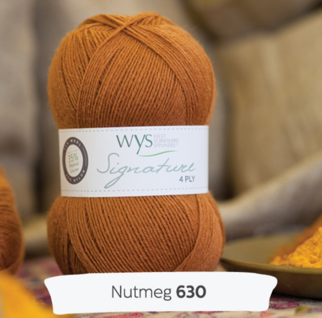 WYS Signature 4Ply - Spice rack collection  NUTMEG 630