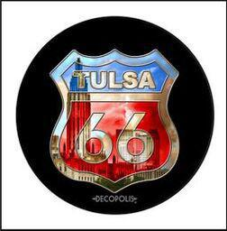 "Button Pin Large ""Tulsa 66 Skyline"""
