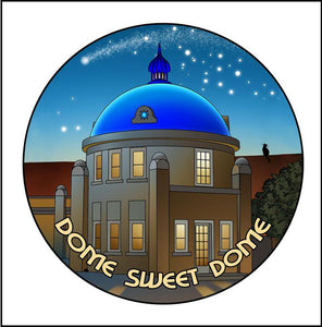 "Button Pin Large ""Blue Dome"""