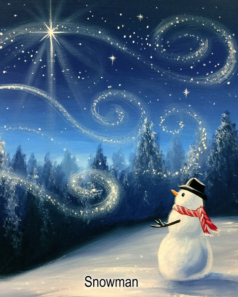Snowman Painting Party - Adult