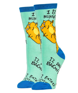Phat Cat - Womens Crew Socks