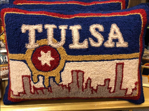 Tulsa Flag - DECOPOLIS Pillow