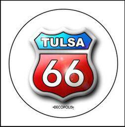 "Button Pin Large ""Tulsa 66"""