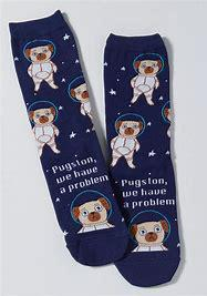 Women's Crew: Pugston, We Have a Problem socks