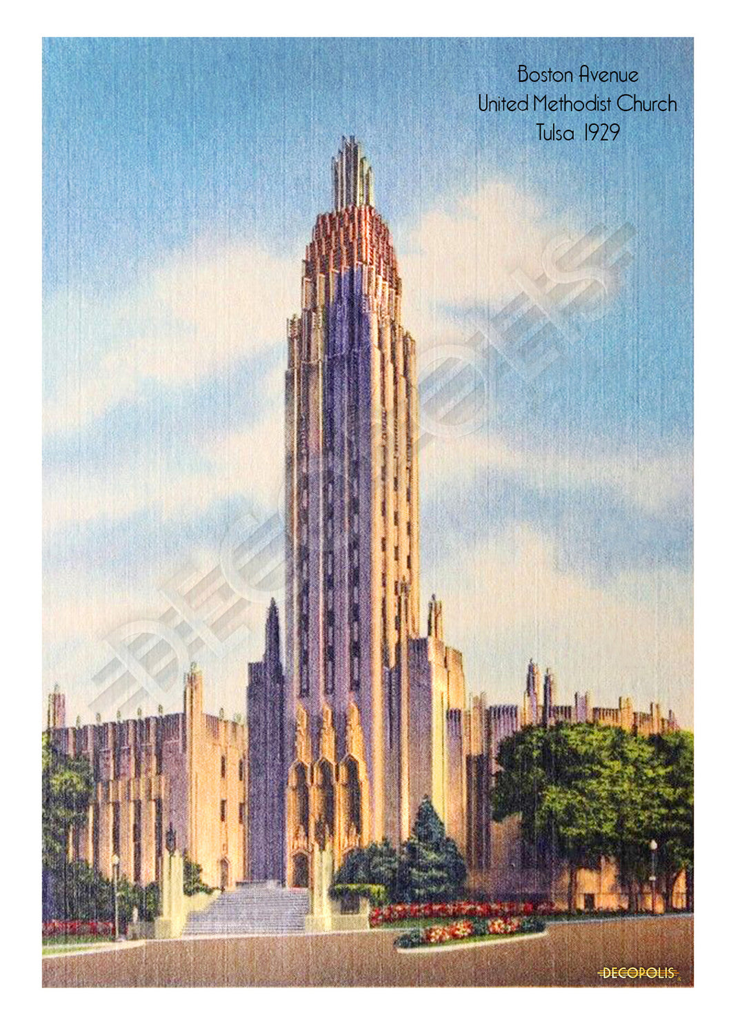 Decopolis Postcard - Boston Ave. Church