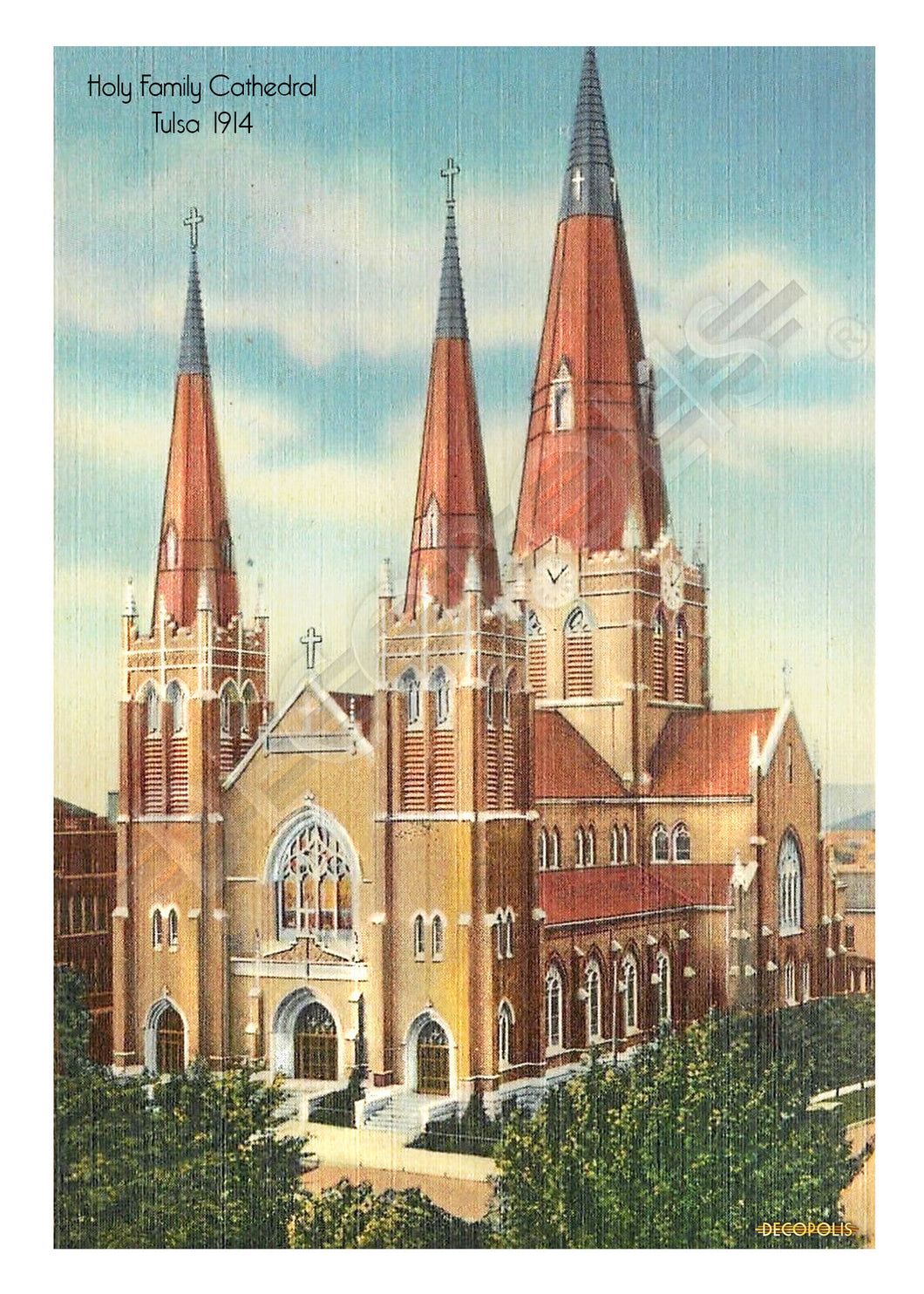 Decopolis Postcard - Holy Family Cathedral