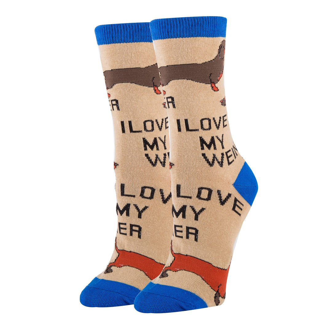 Love My Weiner - Womens Socks