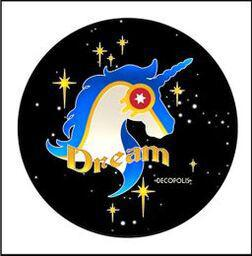 "Button Pin Large ""Unicorn Dream Night Sky"""