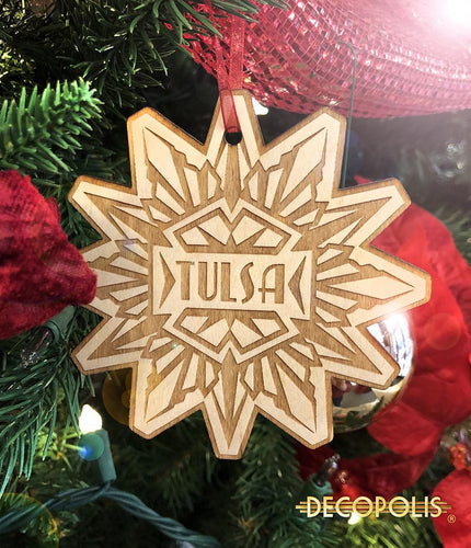 WOTS Wood Ornament Tulsa Snowflake