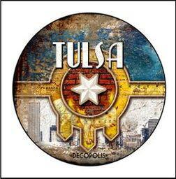 Button Pin Large Decopolis Tulsa Flag