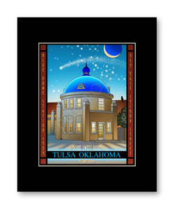 Blue Dome - Matted Print