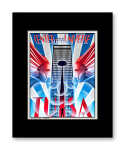 Center of the Universe (Red White & Blue) - Matted Print