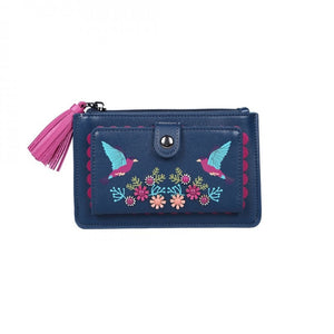 Cuckoo Clock Front Zip Wallet