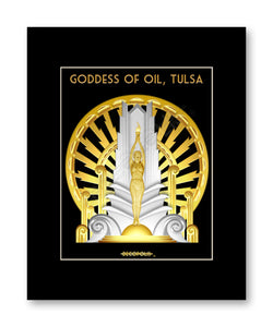 Goddess of Oil (Dark) Matted Print