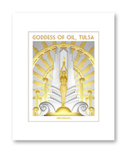 Goddess of Oil (Light Background) Matted Print