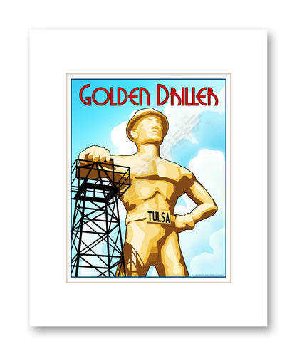 Golden Driller - Matted Print