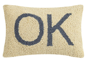 "OKlahoma Hook Pillow 8""x12"""