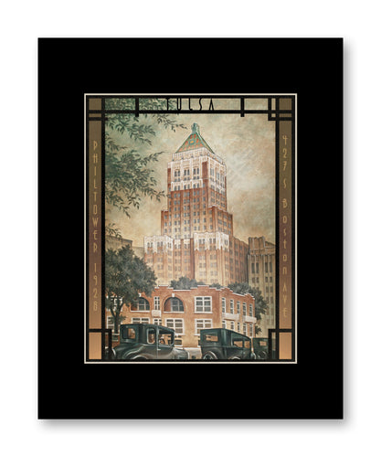 Philtower - Matted Print