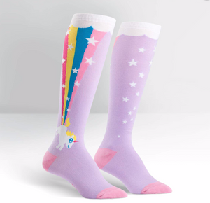 Stretch-It Knee High: Rainbow Blast Socks