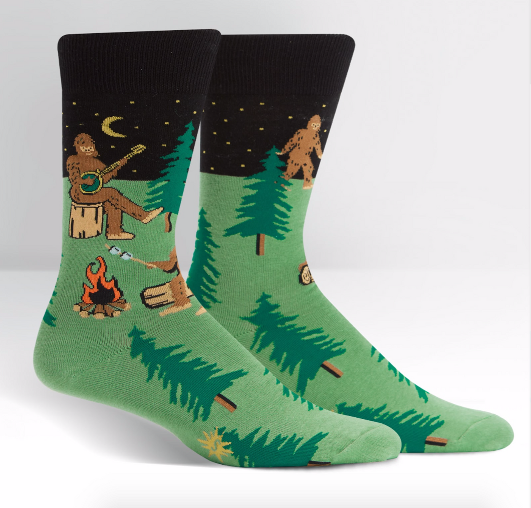 Men's Crew: Sasquatch Camp Out Socks BEST SELLER