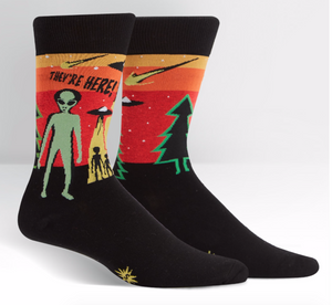 Mens Crew: They're Here Socks