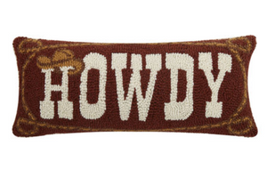 "Howdy Cowboy DECOPOLIS Pillow 8"" X 20"""