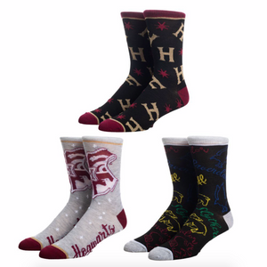 Harry Potter 3-1 Crew Sock Train