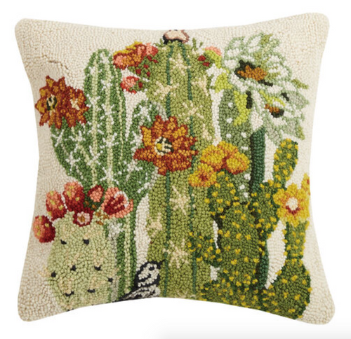 Floral and Cactus Pillow