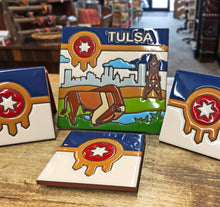 4 x 4 Tulsa Flag, Coaster Tile