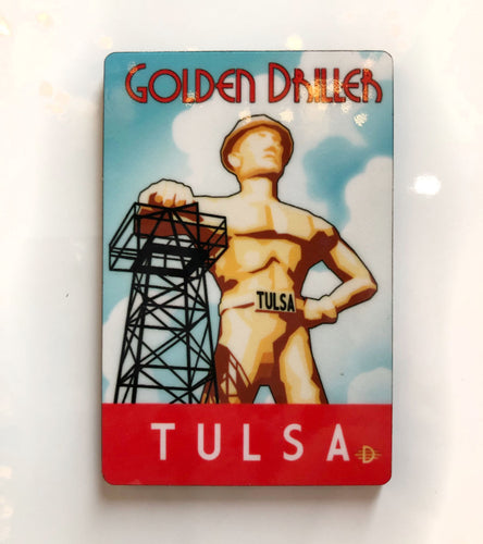 Tulsa Golden Driller Magnet