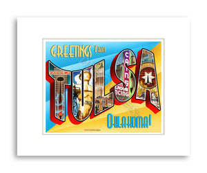 Tulsa Greetings - Matted Print