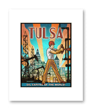 Tulsa Oil - Matted Print