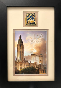 Matted Art & Pin 7x11 Tulsa, Oklahoma