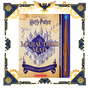 Harry Potter Marauders Map Guide to Hogwarts, & Wand!