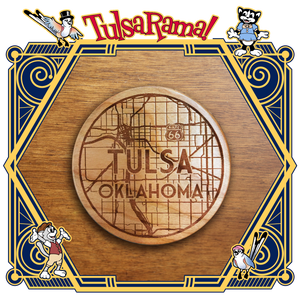 WCTM Wooden Coaster Tulsa Map