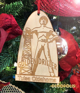 WOGD Wood Ornament Golden Driller