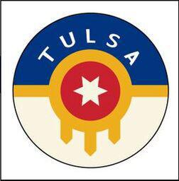 Button Pin Large Tulsa Flag