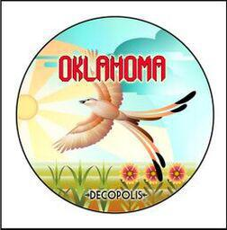 "Button Pin Large ""Oklahoma Scissortail"""