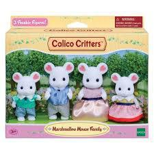 Calico Marshmallow Mouse Family