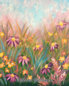 Oklahoma Wildflowers Painting Party - One Spot Friday May 3rd, 2019
