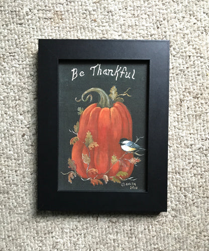 "5x7 Fall quote ""Be Thankful"""