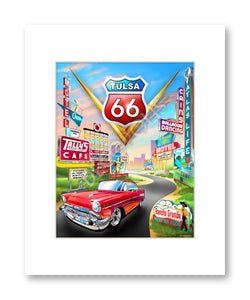 Tulsa Route 66 - Matted Print