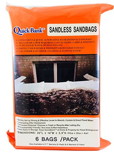"Sandless Sand Bags - High Capacity, 22""x14"", 6 Pk"