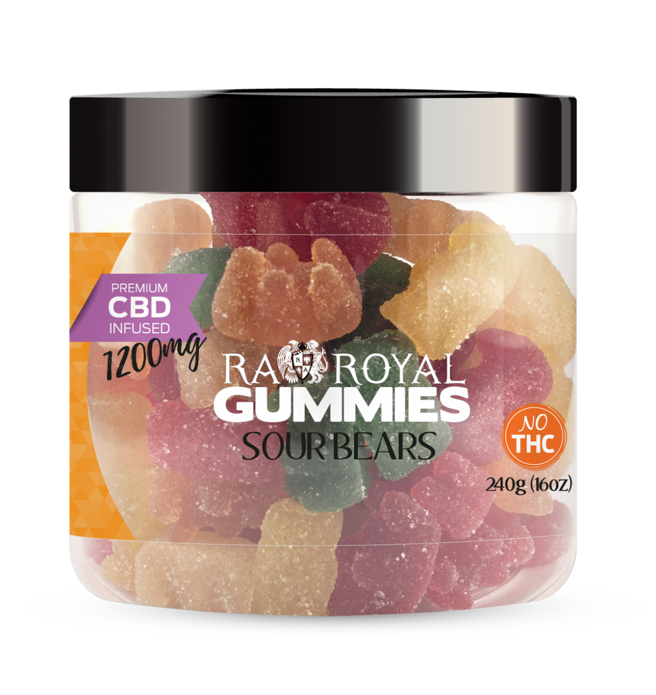 SUBSCRIPTION ONLY RA Royal Blend CBD Sour Bear Gummies (~10mg/gummy)