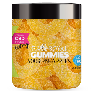 RA Royal CBD Infused Sour Pineapple Gummies