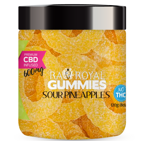 RA Royal Sour Pineapples Rings CBD Infused Gummies