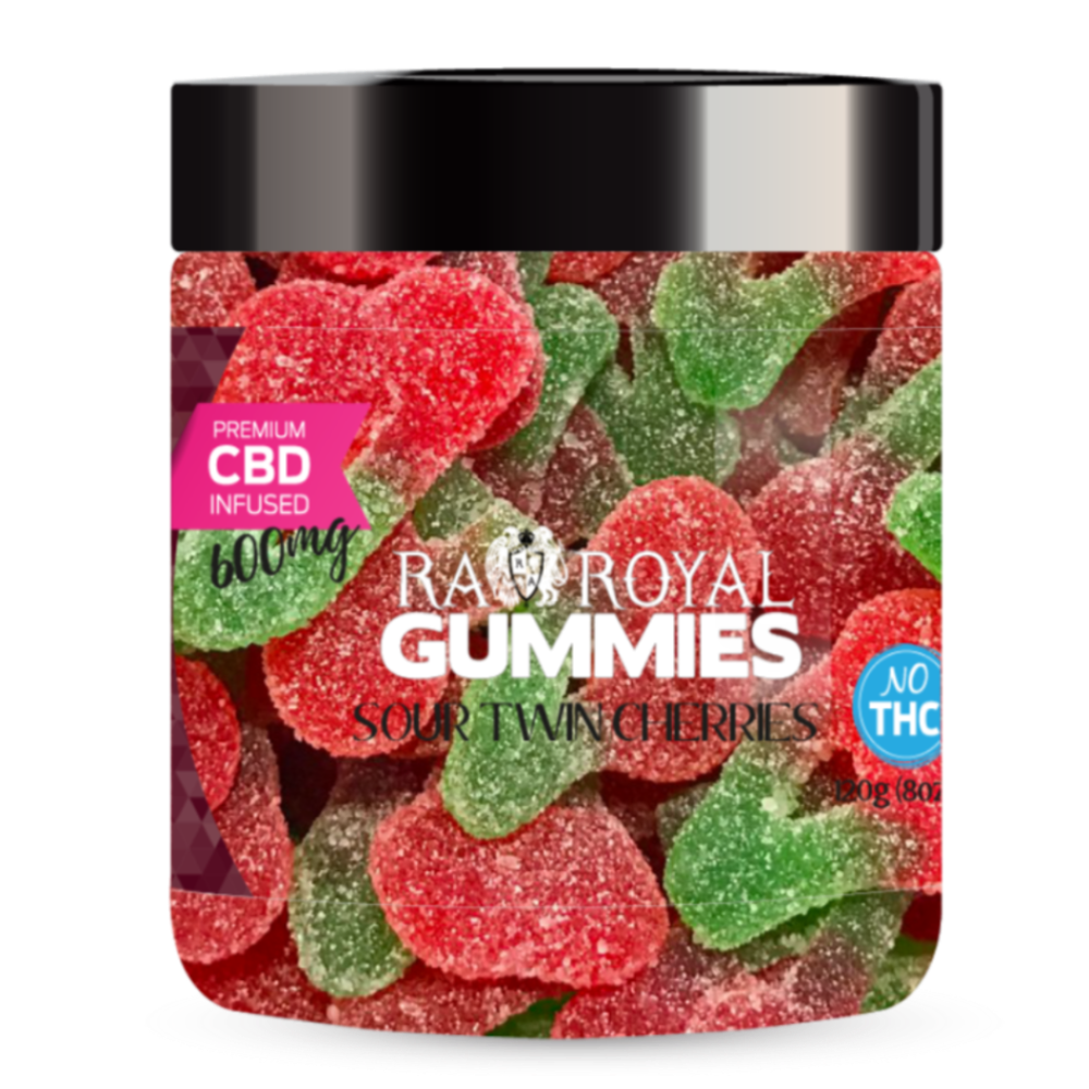 RA Royal CBD Sour Twin Cherries Gummies (~35mg/gummy)