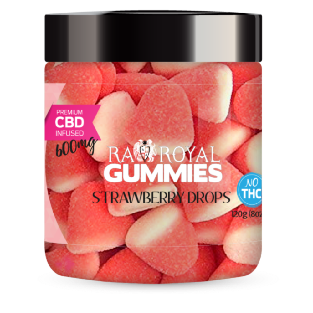 RA Royal CBD Strawberries & Cream Drops (~25mg/gummy)