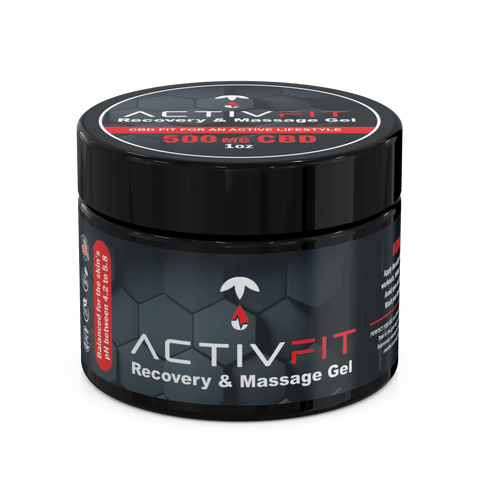 CBD ActivFit Recovery and Massage Gel for sore muscles
