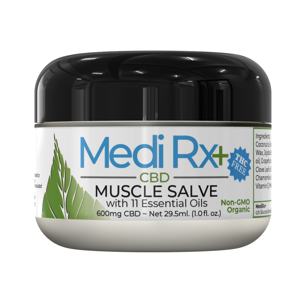 MEDIRX+ Muscle Salve Cream 600mg - Lavender Oil & Packed with 11 Essential Oils